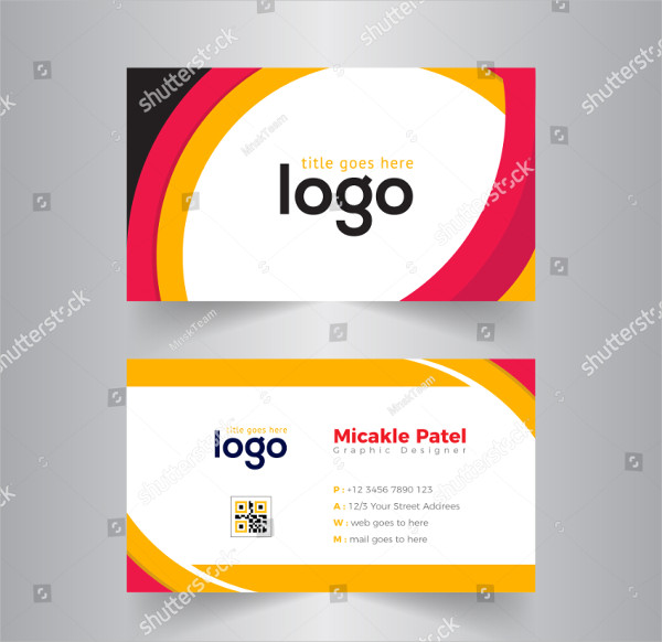 Colorful Vector Business Card Template