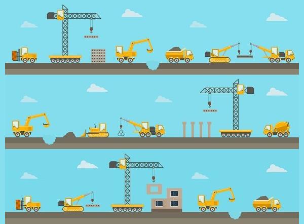 Construction Banner Background