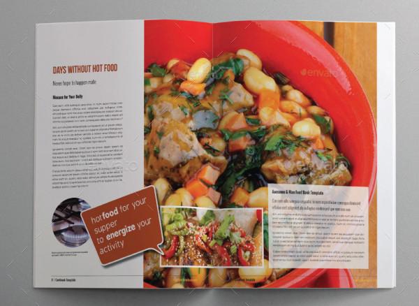 Cookbook Food Bi-Fold Brochure Template