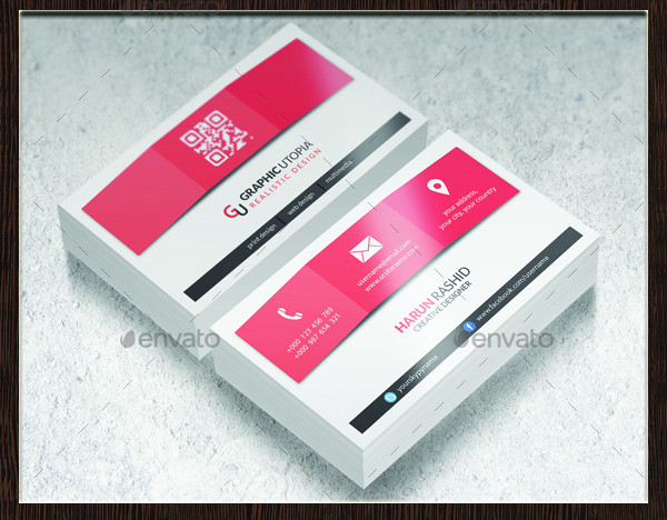 Cool Color Shade Business Card Design