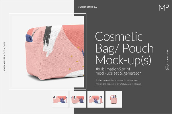 Cosmetic Bag Mock-ups Set & Generator