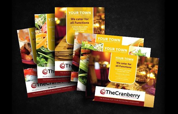 Cranberry Restaurant Marketing Flyer Template