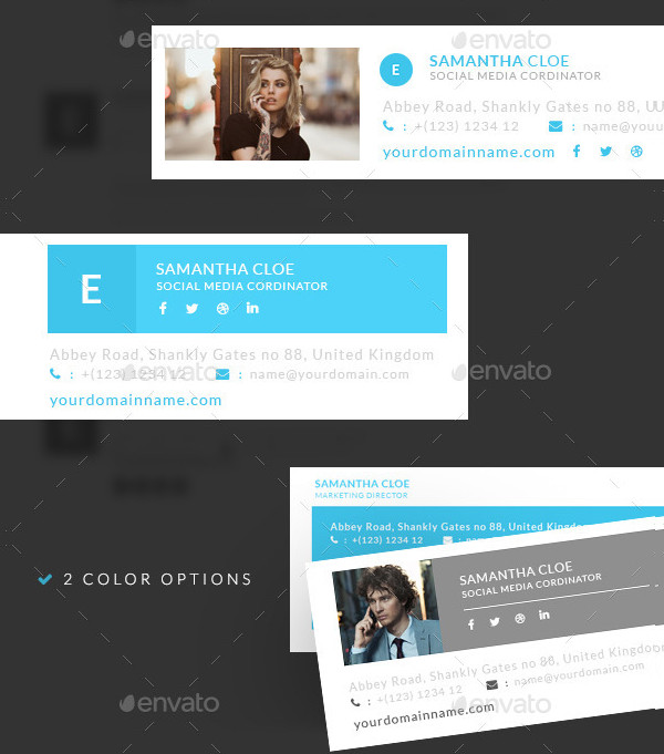 Creative E-Signature Template