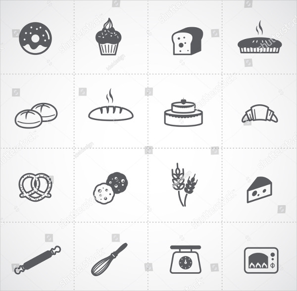 Perfect Bakery Icon Set