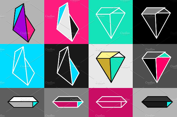 Crystals Icons & Patterns