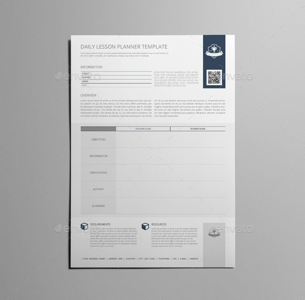 Daily Lesson Planner Template