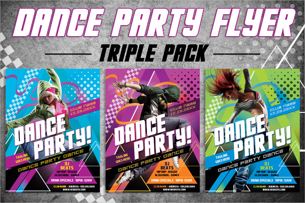 Dance Party Triple Pack Flyer