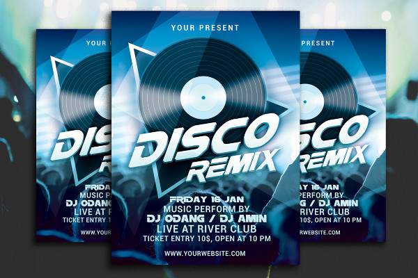Disco Remix Party Flyer Template