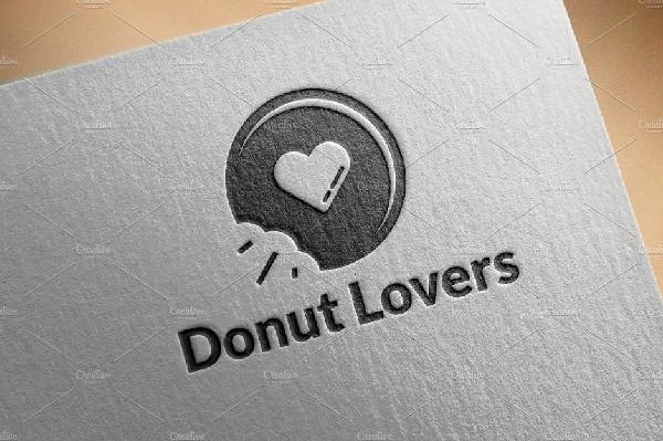 Fresh Donut Lovers Logo Template
