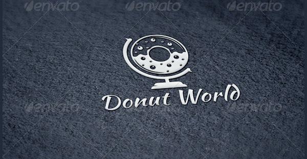 Donut World Logo Template