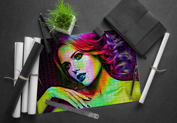 Easy to Edit Graffiti Photoshop Action