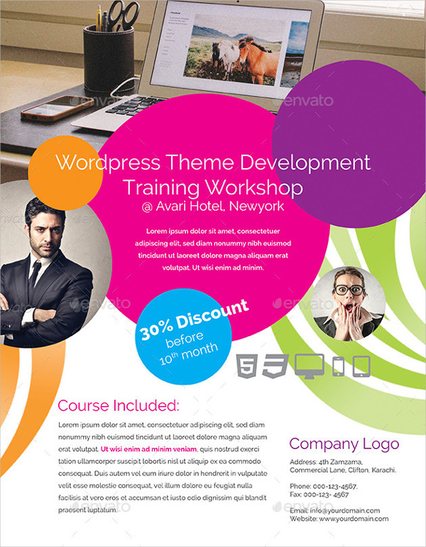 Elegant Business Training Flyer Design