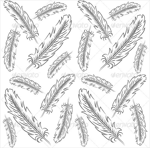 Elegant Feather Pattern