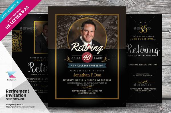 Elegant Retirement Party Invitation Flyer Templates
