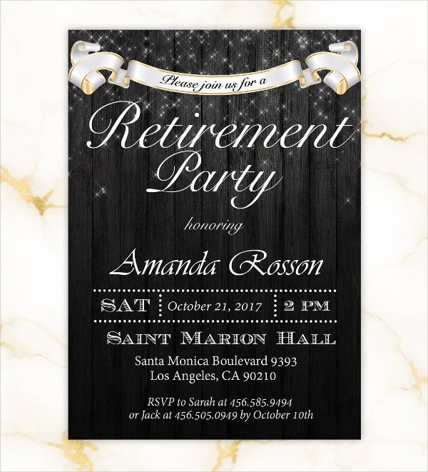 Custom Retirement Party Invitations