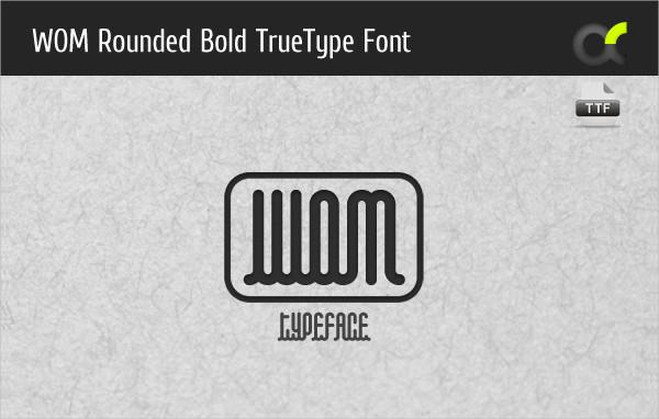 Elegant Rounded Bold True Type Font