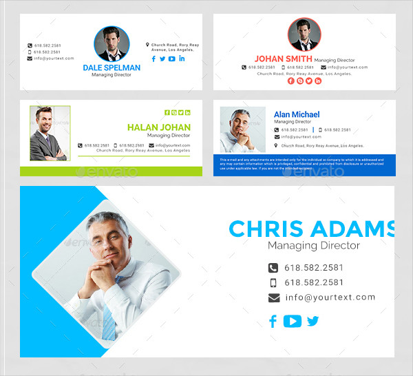 21 Email Signature Templates Free Premium Download