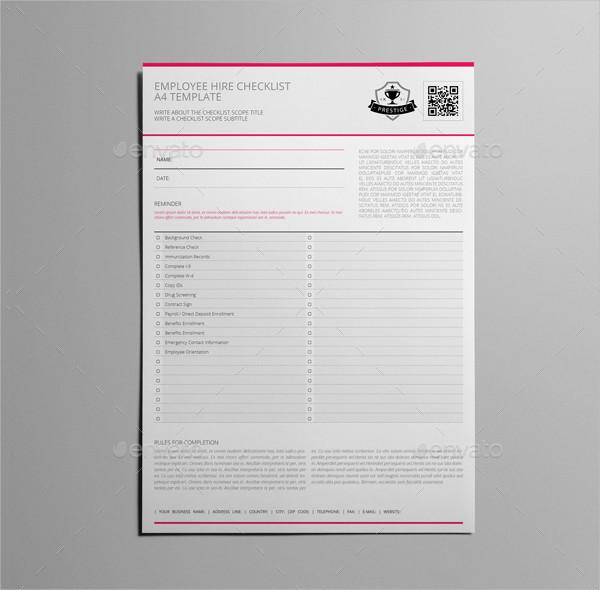 Modern Portrait Checklist InDesign Template