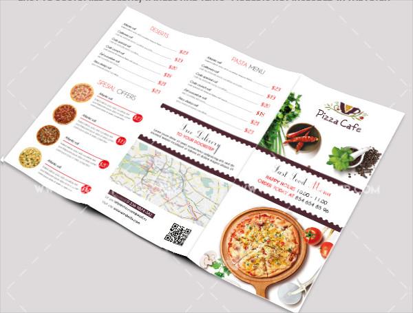 Fast Food Free PSD Tri-Fold Brochure Template