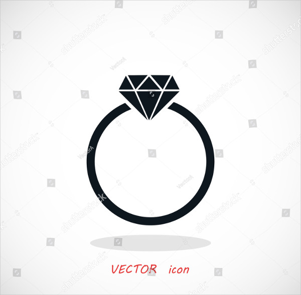 Flat Design Ring Icon