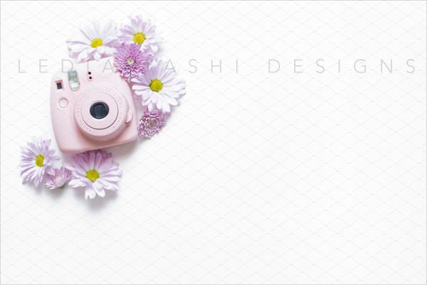 Floral Style Camera Mockup