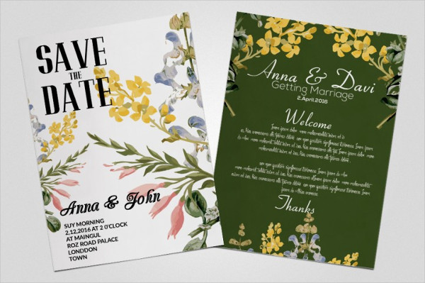 Flowery Invitation Flyers Bundle