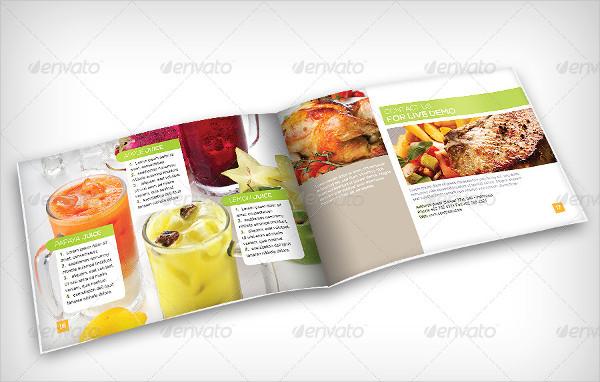 Food & Beverage Recipe Brochure Template