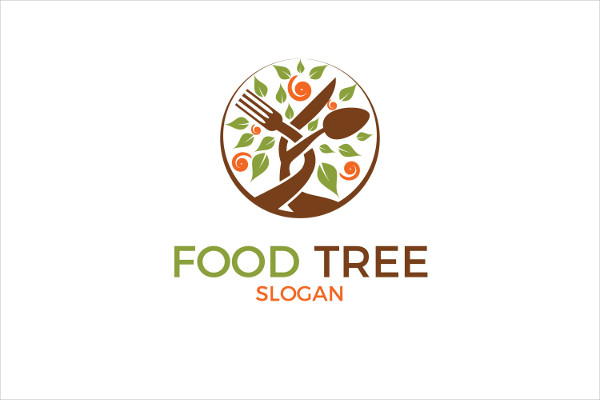 Food Tree Logo Template