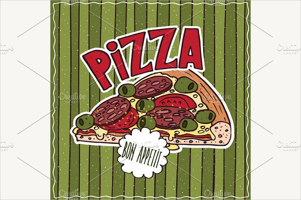 Food Poster Template with Pizza