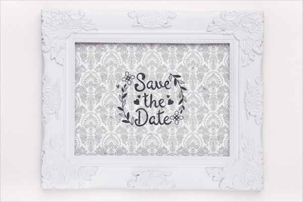 Frame with Save the Sate Mock-Up Free PSD