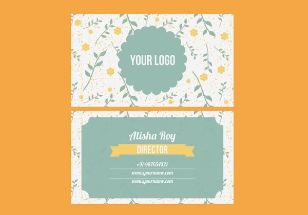 Free Colorful Trendy Business Card Vector