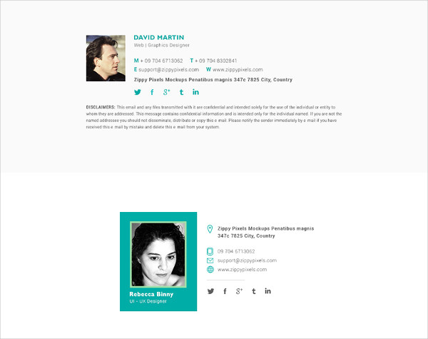 Free Email Signature Template with Awesome Designs