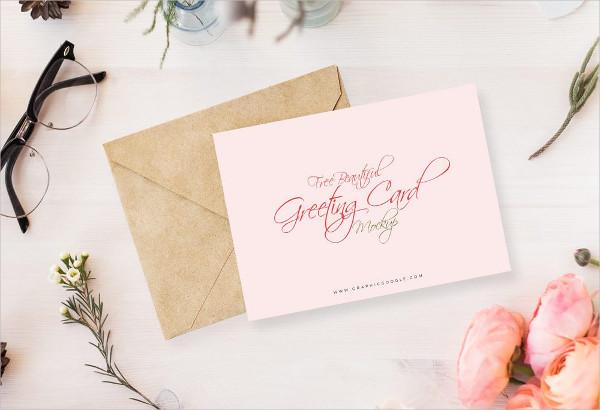 Free Flowery Invitation Card Mockup