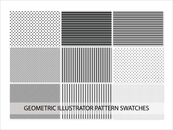 Free Geometric Vector Pattern Swatches