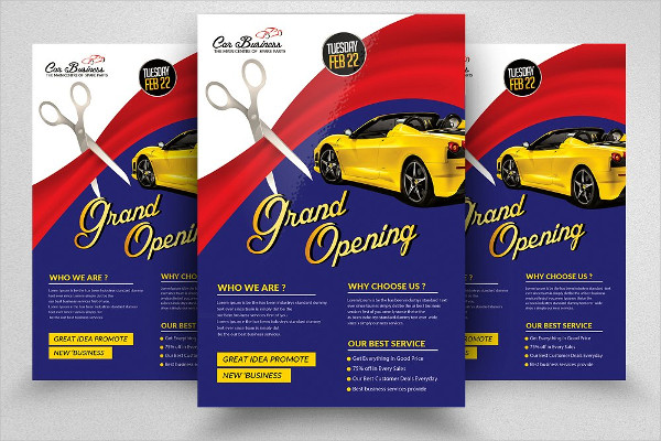 Free Lancing Grand Open Party Flyer Template