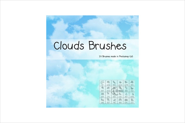 Free Photoshop Cloud Brush Pack