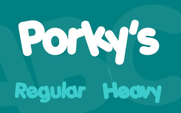 Free Porky's Font Family