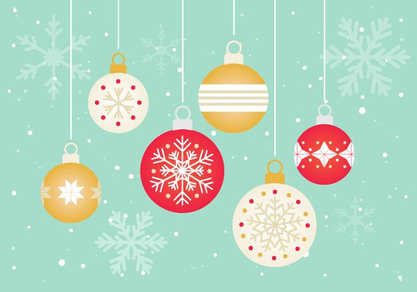 Free Vector Christmas Ornaments Designs