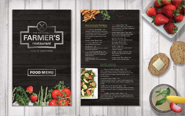Fresh Restaurant Food Menu Brochure