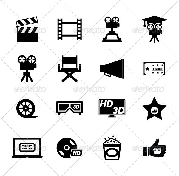 Fully Editable Movie Icon Set