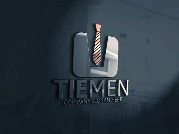 Fully Editable Tie Men Logo Template