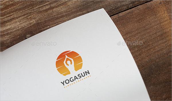 Fully Editable Yoga Sun Logo Design