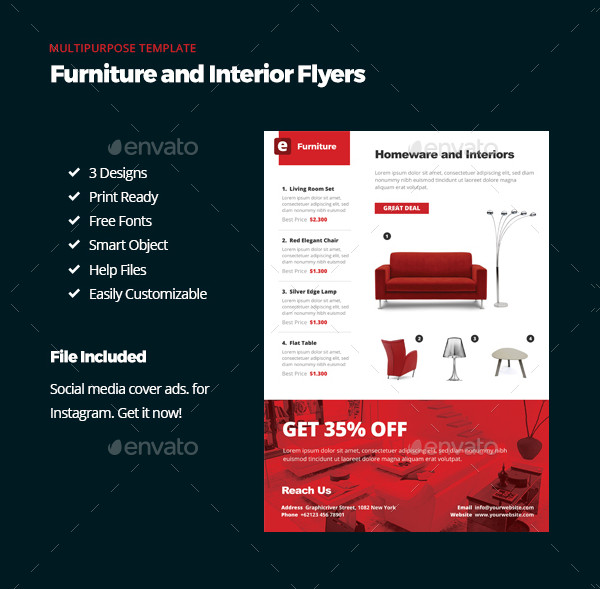 Furniture and Interior Flyers Design