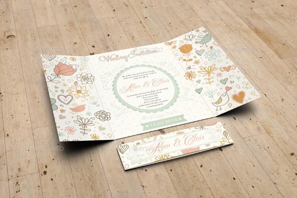Gatefold Wedding Invitation Mockup
