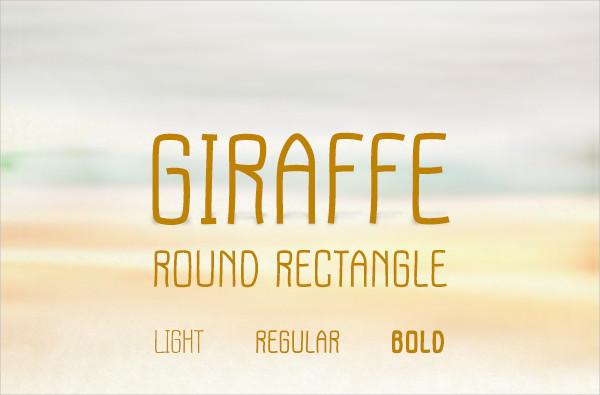 Giraffe Round Rectangle Font