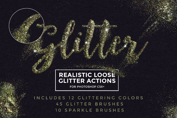 Glitter Typography Photoshop Actions