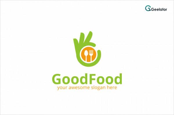 Good Food King Logo Template