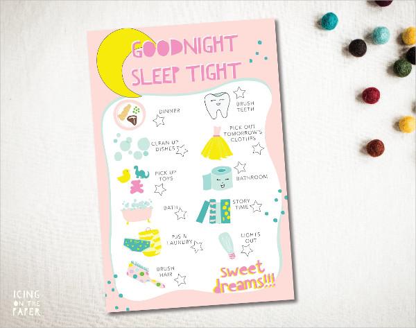 Good Night Checklist Templates
