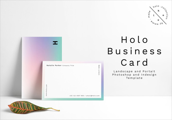 Gradient Style Business Card Design