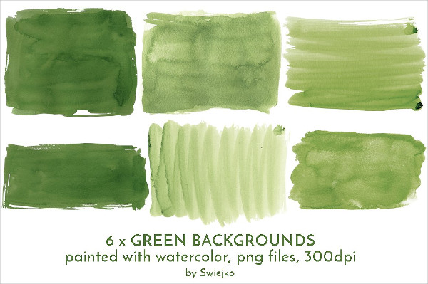 Green Watercolor Banner Background